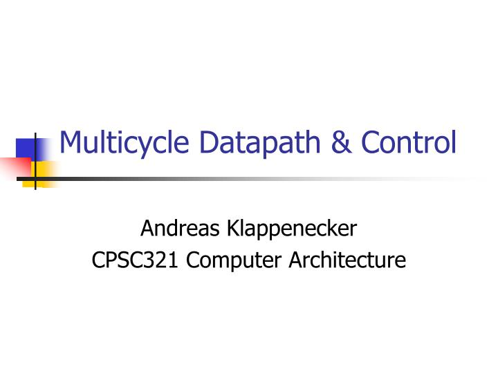 multicycle datapath control n.