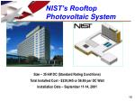 nist s rooftop photovoltaic system