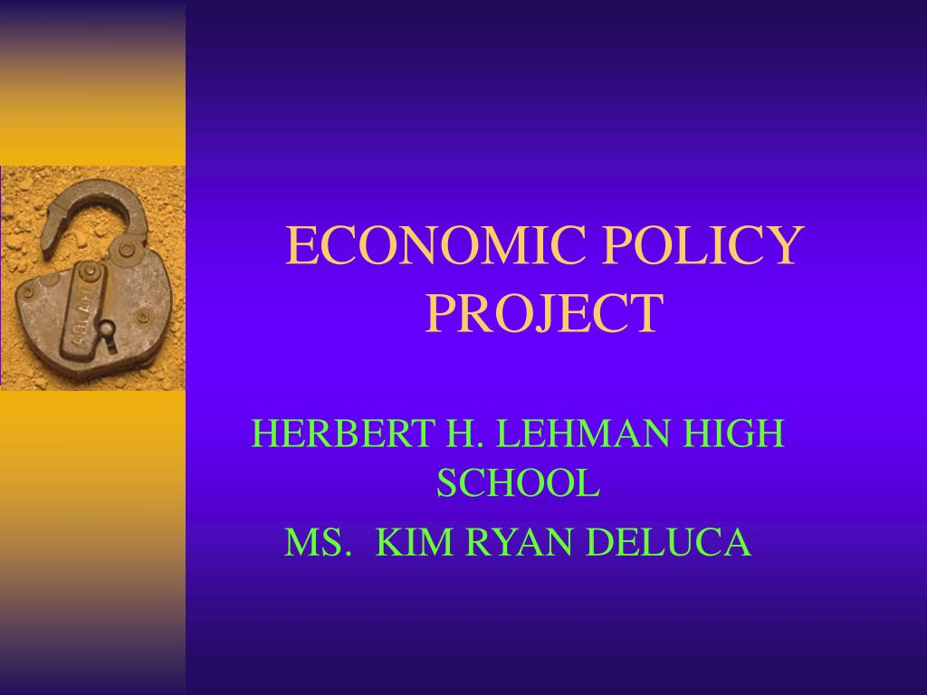 economic policy project l.