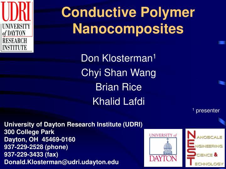 conductive polymer nanocomposites n.