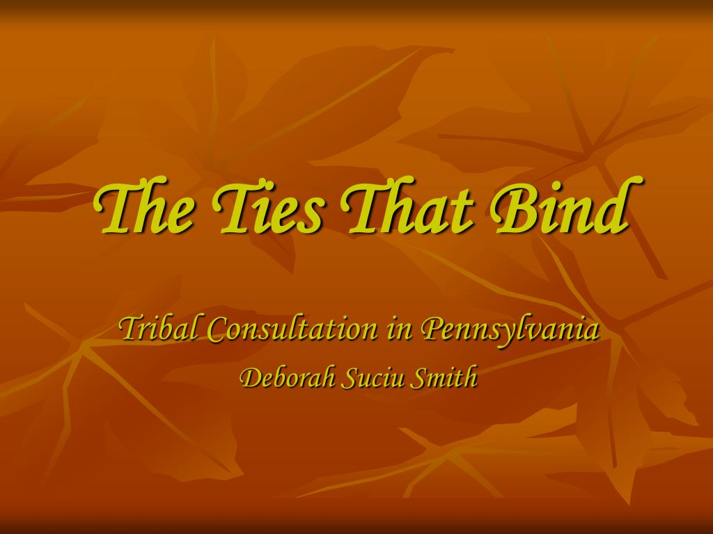 the ties that bind l.