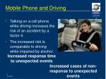 mobile phone and driving