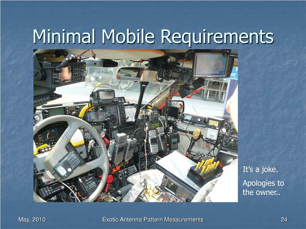 Minimal Mobile Requirements