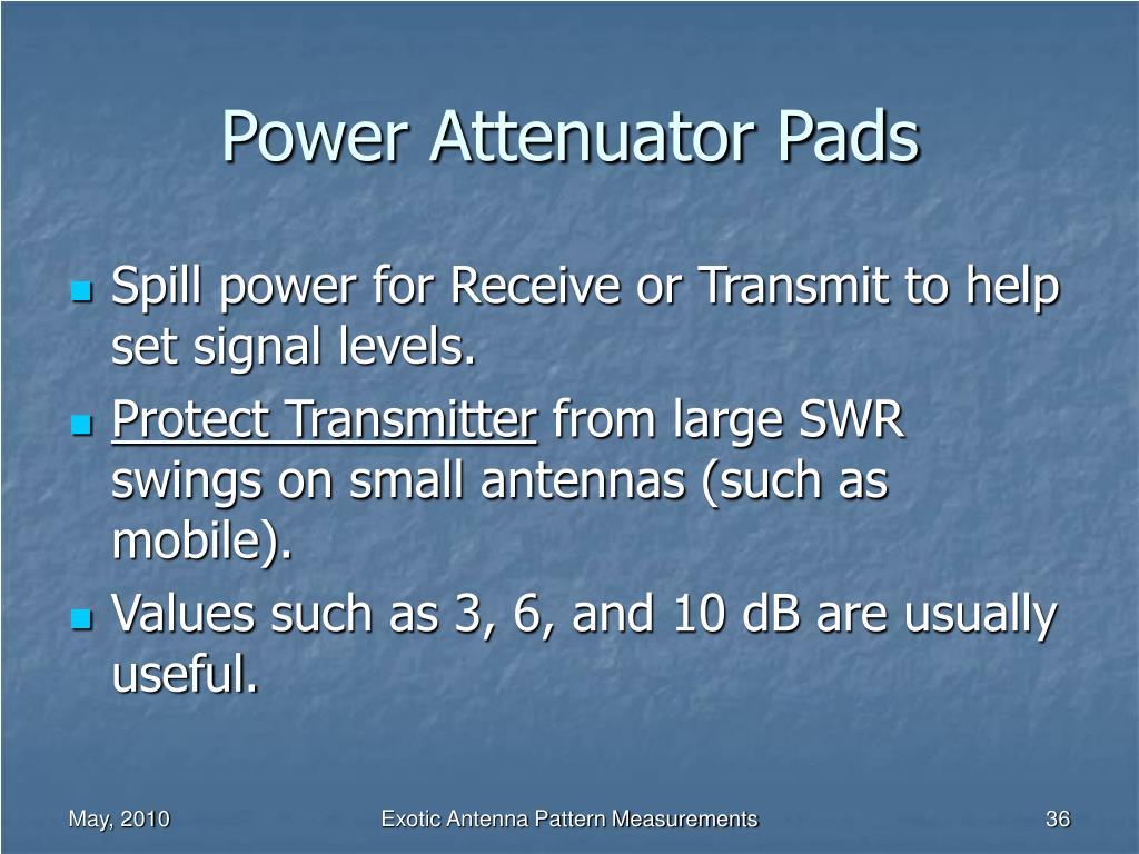 Power Attenuator Pads