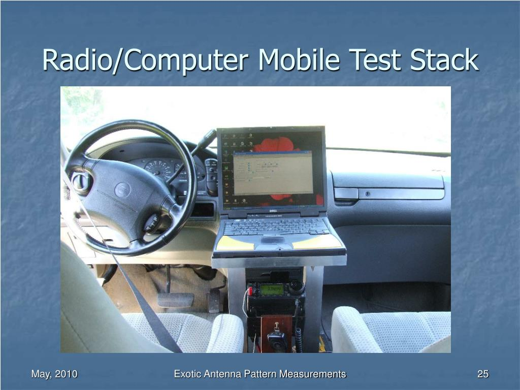 Radio/Computer Mobile Test Stack