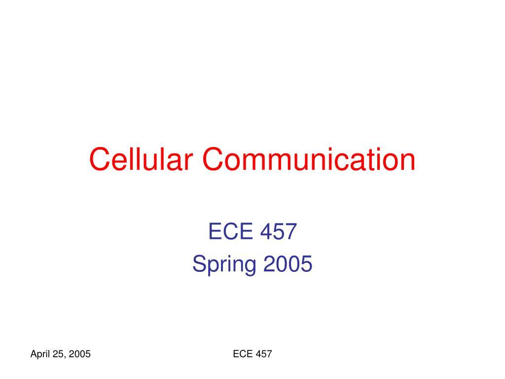 cellular communication l.