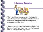 4 consumer education
