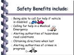 safety benefits include