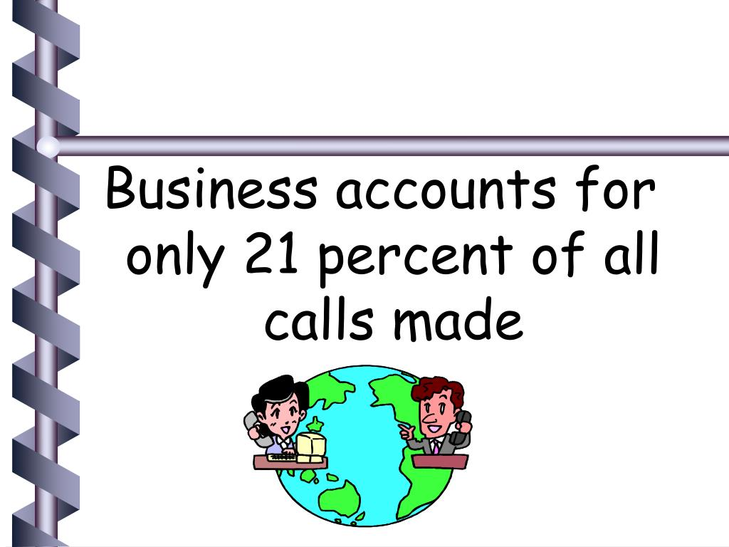 Business accounts for only 21 percent of all calls made