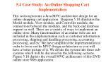 5 4 case study an online shopping cart implementation