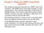 example 1 a simple java jdbc command line application