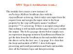 mvc type 1 architecture cont11