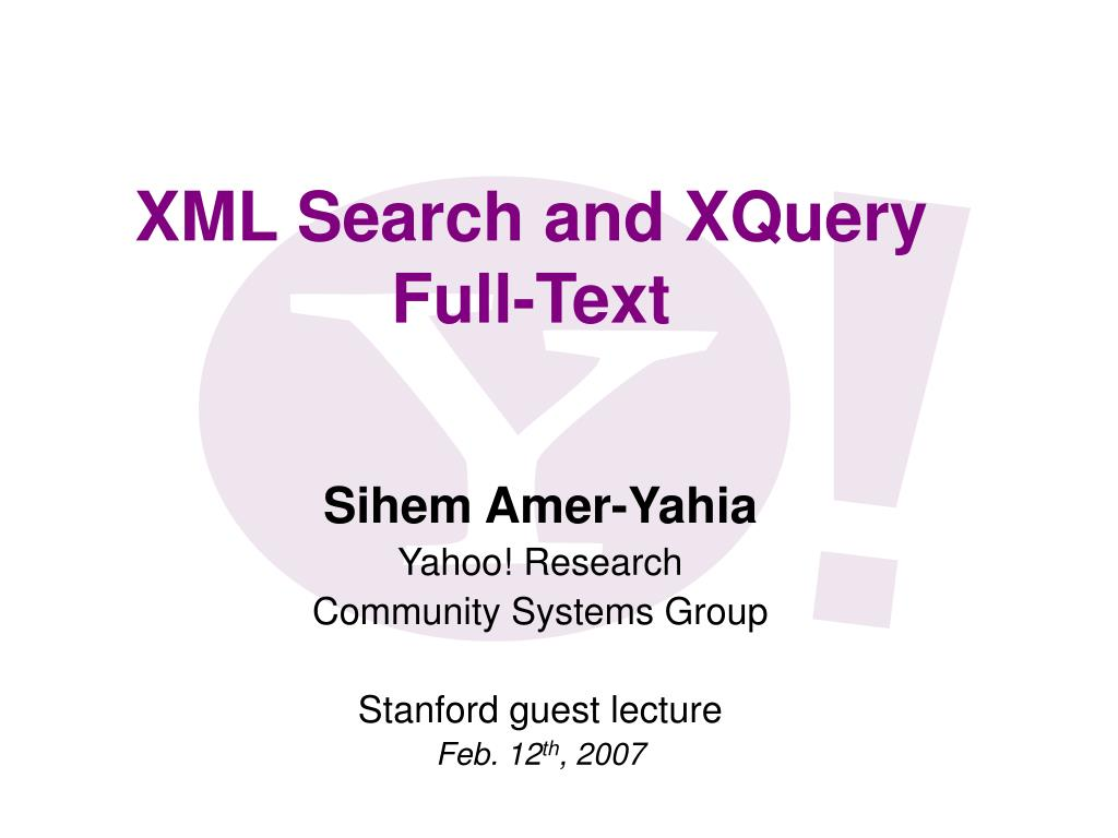 xml search and xquery full text l.