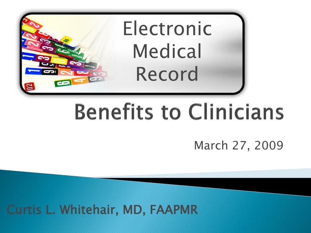 benefits to clinicians l.