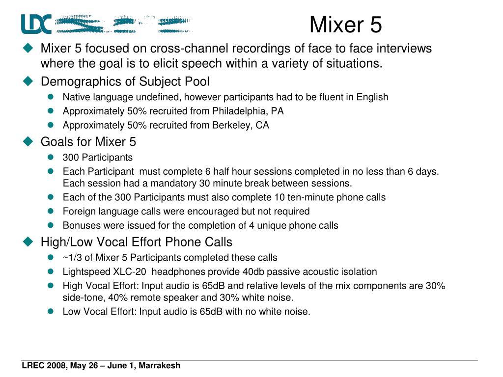 Mixer 5