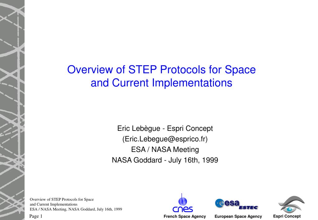 overview of step protocols for space and current implementations l.