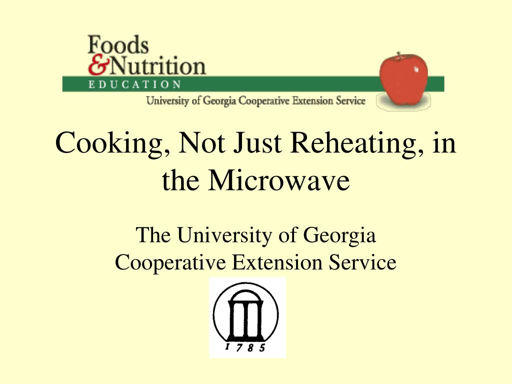 cooking not just reheating in the microwave l.