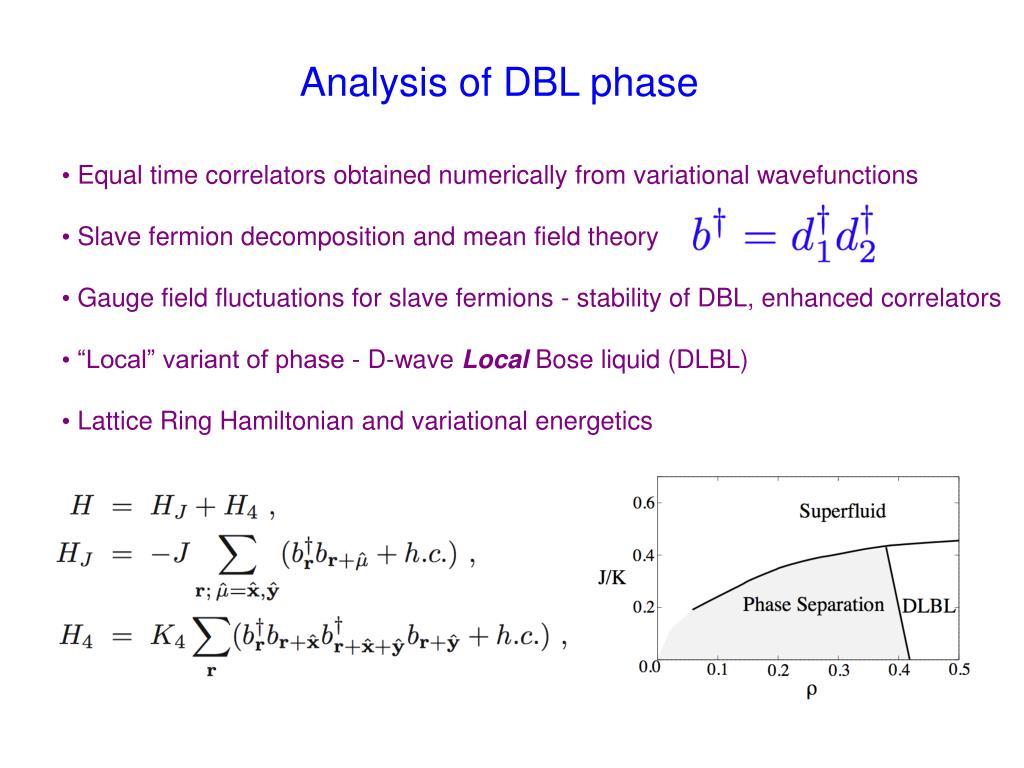 Analysis of DBL phase