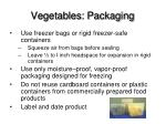 vegetables packaging
