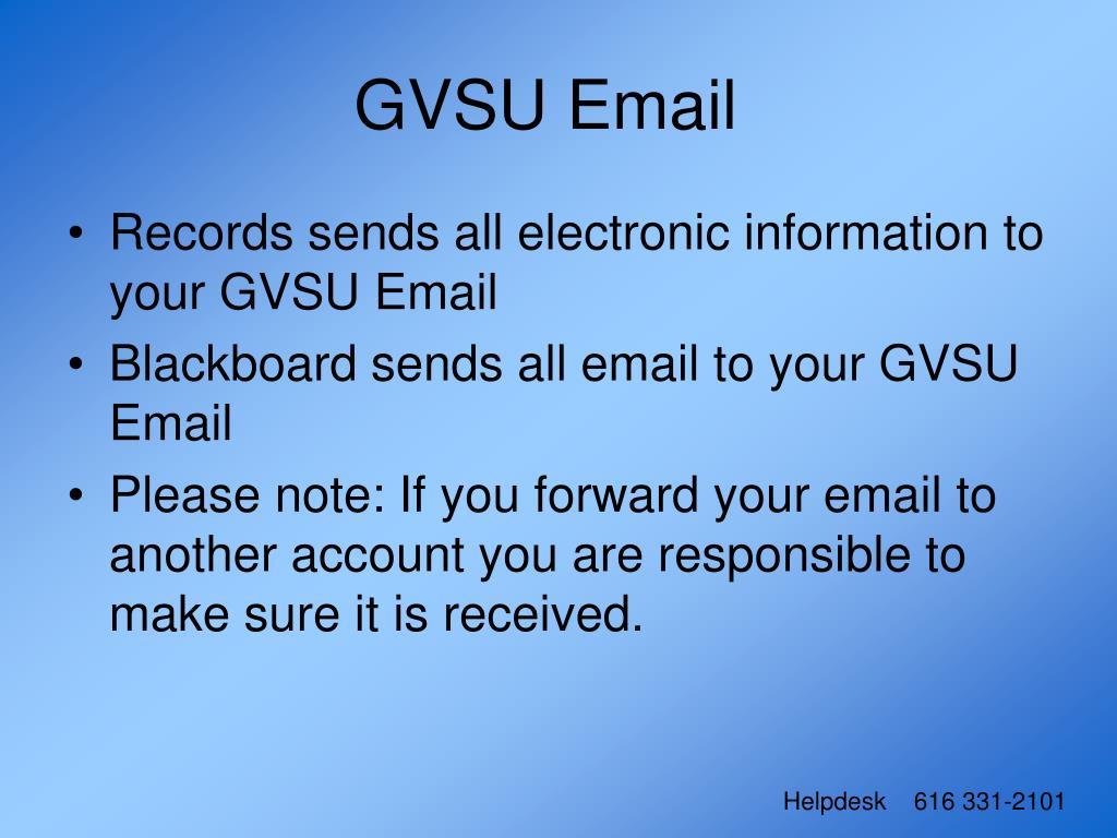 GVSU Email