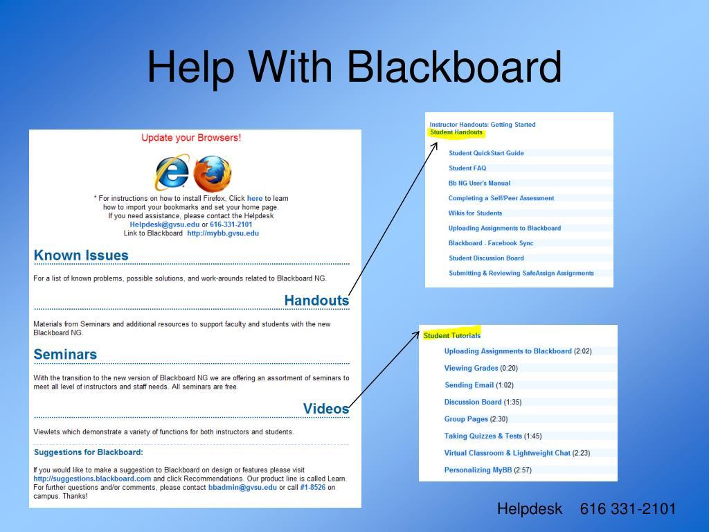 Help With Blackboard
