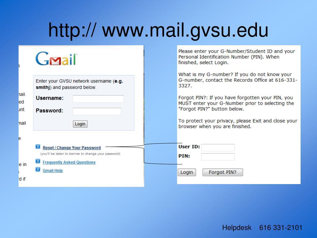 http:// www.mail.gvsu.edu