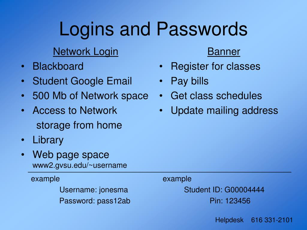 Network Login
