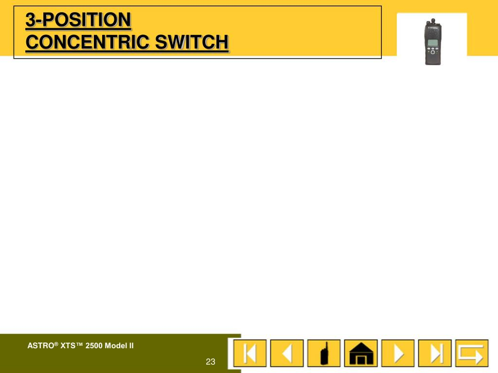 3-POSITION CONCENTRIC SWITCH