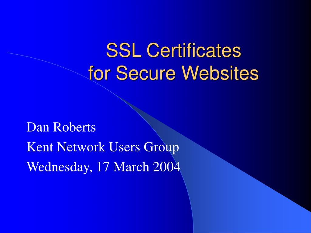 ssl certificates for secure websites