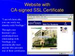 website with ca signed ssl certificate