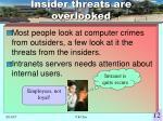 insider threats are overlooked