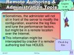 remote authoring administration tools