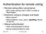authentication for remote voting28