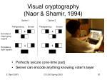visual cryptography naor shamir 1994