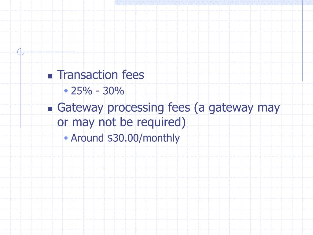 Transaction fees