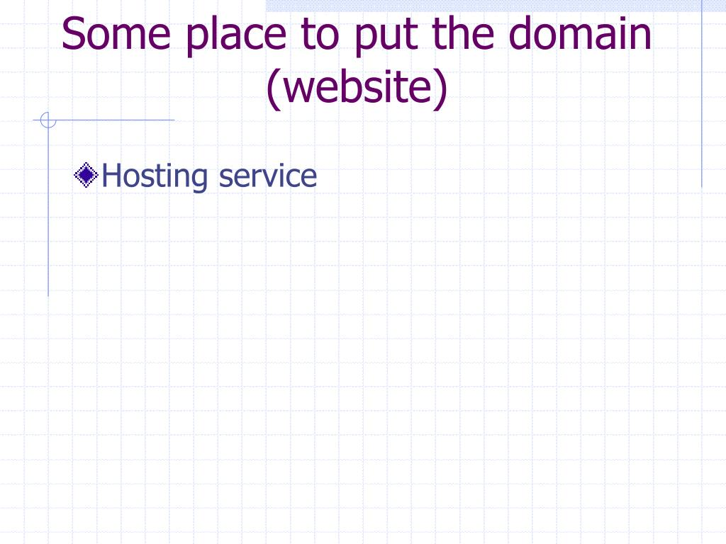Some place to put the domain (website)