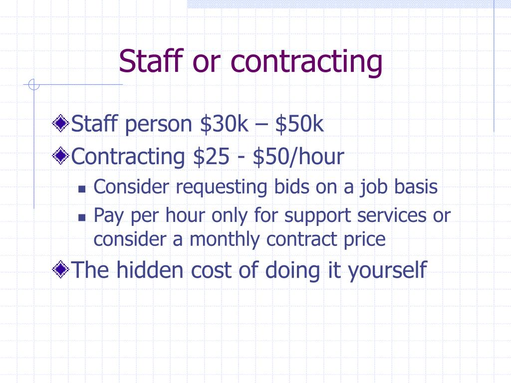 Staff or contracting
