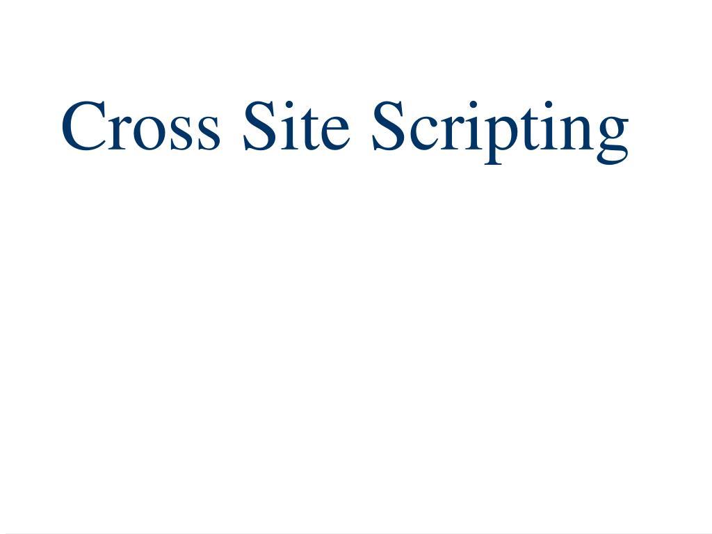 Cross Site Scripting