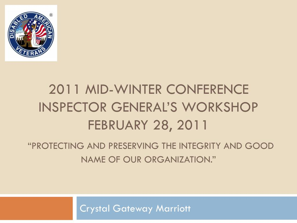 2011 MID-WINTER CONFERENCE