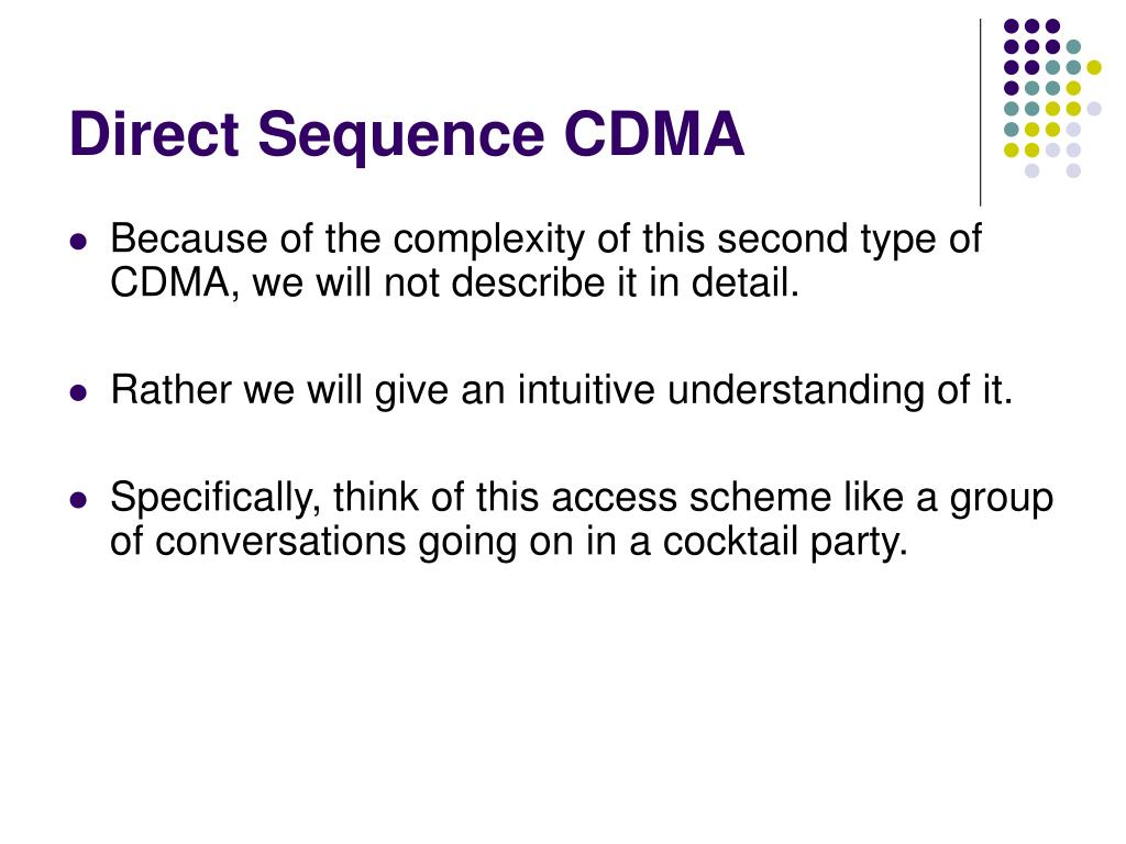 Direct Sequence CDMA