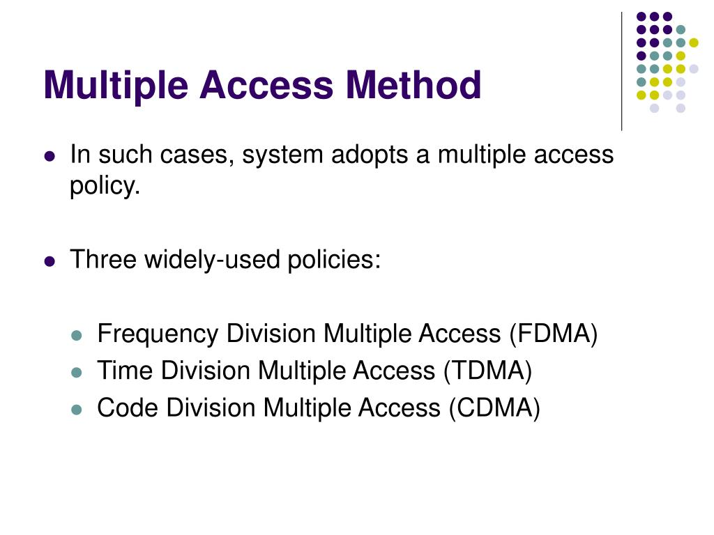 Multiple Access Method