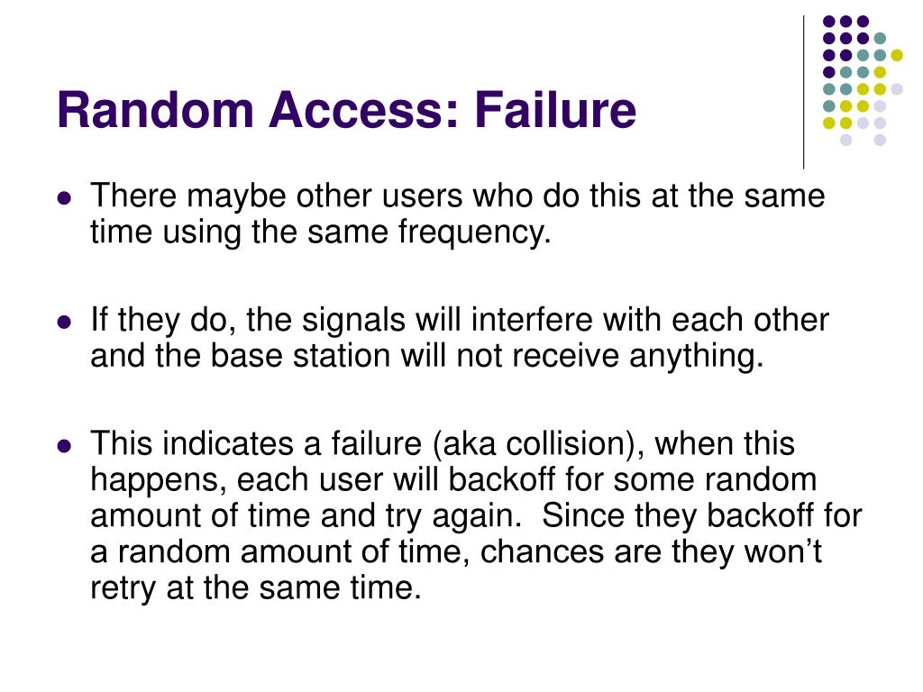 Random Access: Failure