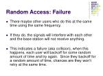 random access failure
