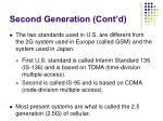 second generation cont d