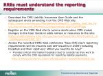 rres must understand the reporting requirements