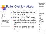 buffer overflow attack64