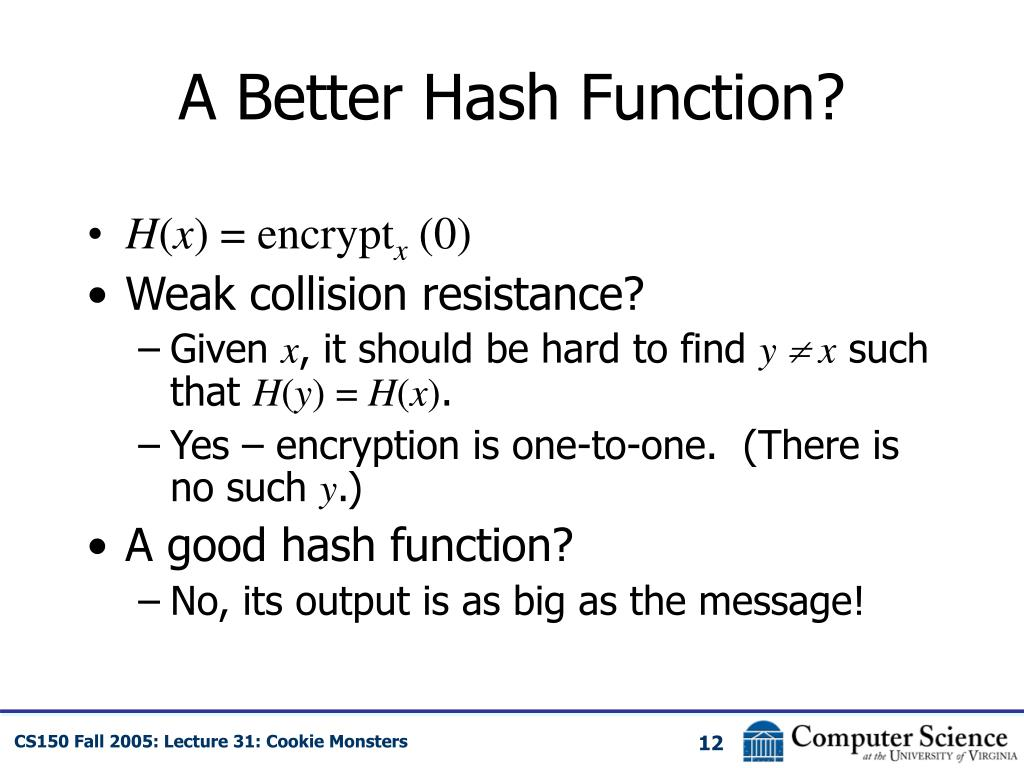 A Better Hash Function?