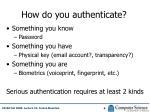 how do you authenticate