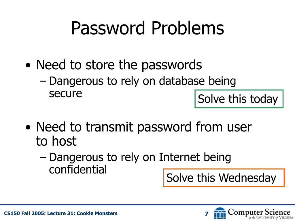 Password Problems