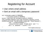 registering for account